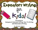 Expository Writing for Kids! {CCSS aligned}