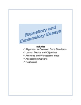 Expository and Explanatory Essays
