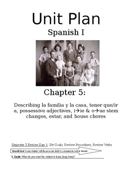 Exprésate I Spanish I lesson plans / materials – Chapter 5