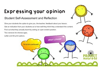 Express your Opinion: Student self-assessment and reflection tool