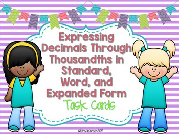 Expressing Decimals in Word Form, Expanded Form, and Stand