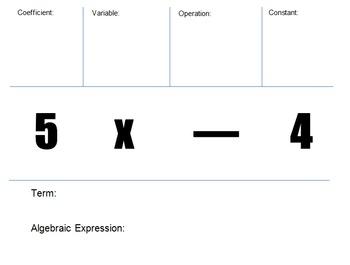Expression Vocabulary Foldable