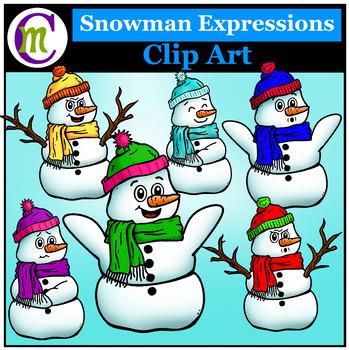 Expressions Clip Art ♦ Snowman Expressions