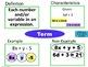 Expressions & Equations Frayer Model Vocabulary (Vocab. th