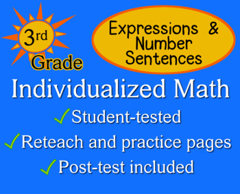 Expressions & Number Sentences, 3rd grade - Individualized