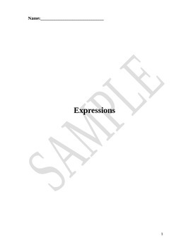 Expressions Unit Packet