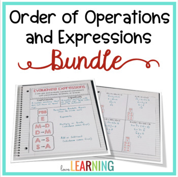 Expressions, Variables, and Order of Operations Bundle {wi