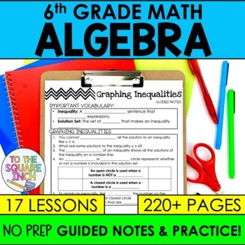 Expressions and Equations- 6th Grade Math Guided Notes and