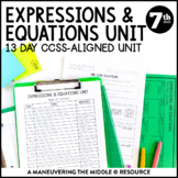 7th Grade Expressions and Equations Unit: 7.EE.1, 7.EE.2,