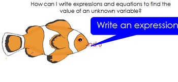 Expressions and Equations Flipchart