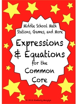BUNDLE Expressions and Equations Math Stations for Common