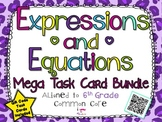 Expressions and Equations Mega Task Card Bundle