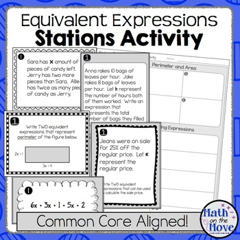 Expressions - Stations Activity (7.EE.1 and 7.EE.2)