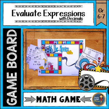 Evaluating Expressions with Decimals Board Game