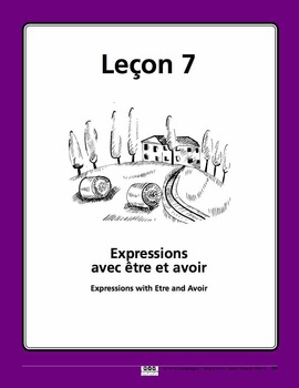 French Expressions with Etre and Avoir Song and Writing Ac