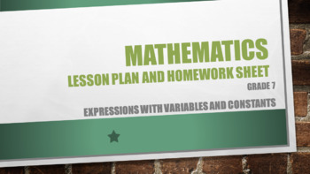 Grade 7 Expressions with variables and constants