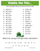 Spring Extended Facts (x and ÷) Math Riddles