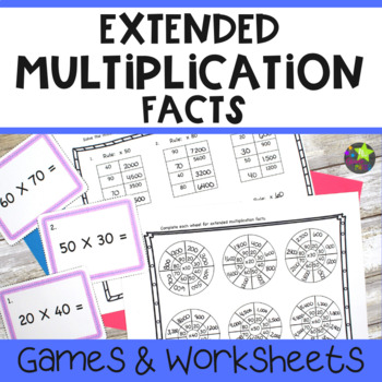 Extended Multiplication Facts Study