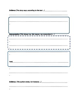 Extended Response Graphic Organizer