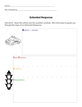 Extended Response Writing Template