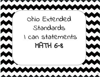 Extended Standards Math 6-8 I can statements
