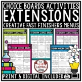 Early Finishers Activities • Extension Activities • Fast F