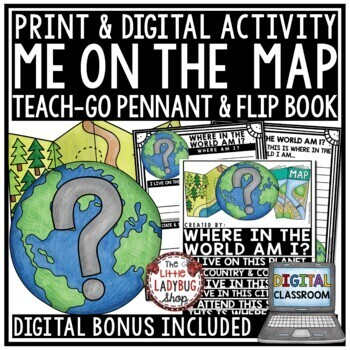 Map Skills Flip Book and Geography Activity