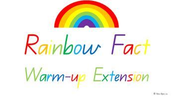 Extension Rainbow Fact/ Bridging to ten/ Make to ten Class