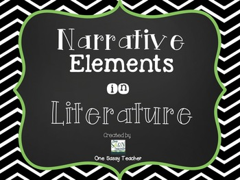Extensive Pack of Literary Elements Posters for Upper Elem