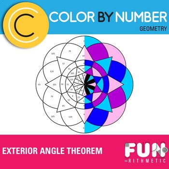 Exterior Angle Theorem Color by Number