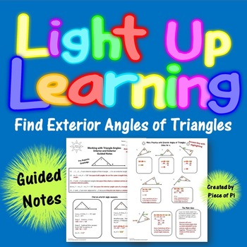 Exterior Angles of Triangles Guided Notes 8.G.5 Color Coded