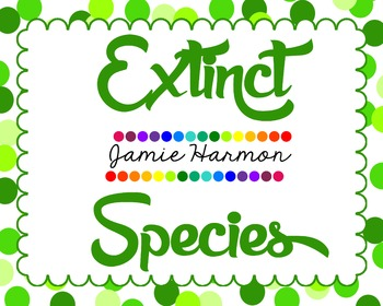 Extinct Animals Mini Chart Set