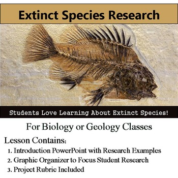 Extinct Species Research Project - Graphic Organizer and R