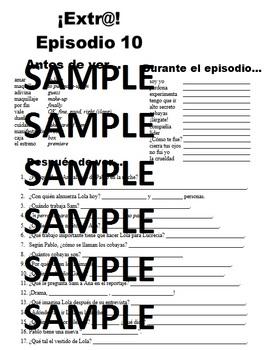 Extra! Extr@! episodio 10 Worksheet Spanish