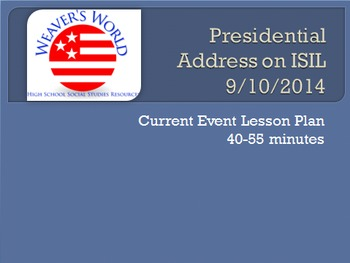 """Presidential Address on ISIL"" Lesson Plan"