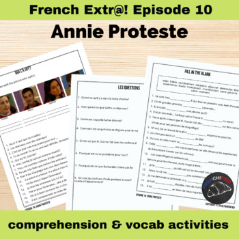 Extra! French - worksheets to accompany episode 10 -Annie