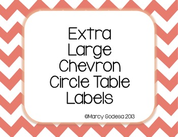 Extra Large Chevron Circle Table Numbers