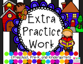 Reading Logs and Extra Practice Homework Packet for Pre-K,