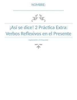 Extra Practice:  Reflexive Verbs Present Tense (Basic)