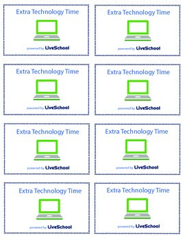 Extra Technology Time Reward Cards
