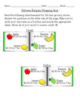 Extreme Bargain Shopping Quiz