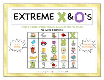 Extreme X & O's Speech Therapy Game for /R/ Combined Posit