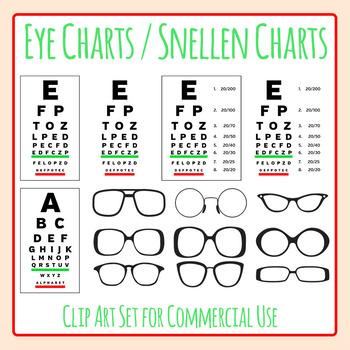 Eye Charts / Glasses / Vision / Snellen Charts Clip Art Fo