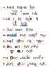Sight Words Desktop Wordwall/ Personal Dictionary, Eyewords 1-100