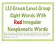 F&P LLI Green Level Sight Word Cards Numbered: Student, Gr
