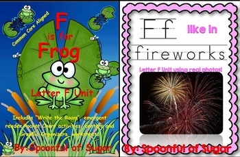 F is for Frog/F Like In Fireworks (2 Complete Letter F Units!)