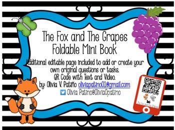 FABLE The Fox and the Grapes Mini Book-QR Codes-Common Cor