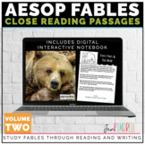 FABLES UNIT CLOSE READING STRATEGIES & TEXT STRUCTURE