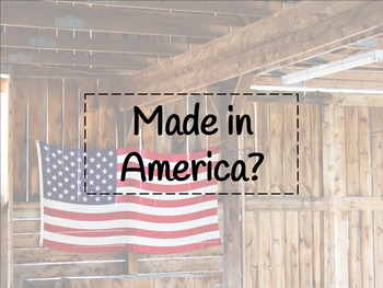 FACS Clothing Made in America Activity