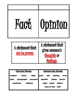 FACT & OPINION Foldable